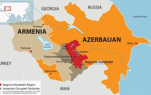 Armenia azerbaijan nagorno karabakh map 630x400